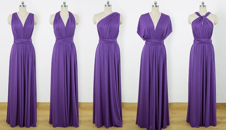 purple multiway dress
