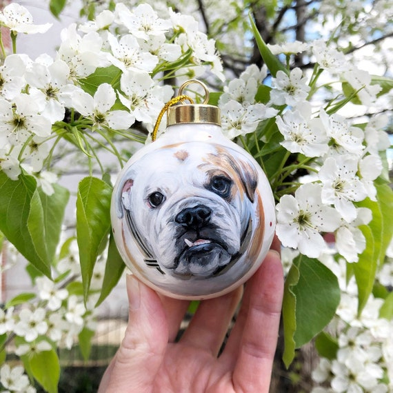 Cat Moms Hand Painted Bauble Father/'s Day Gift Gift for Her Dog Moms Christmas Ornament Sentimental Gift Custom Pet Portrait