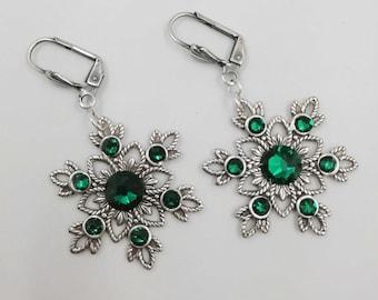 f0cdd3b73232 gothic - gothic earrings - emerald earrings - bridal earrings - gothic  bridal earrings - victorian earrings - gothic wedding earrings - goth