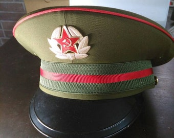 707e9d93521e soviet infantry officers cap - red army - russian military cap - military  cosplay hat - officers cap - visor cap - soviet military cap - hat