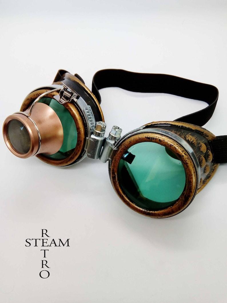 2771986d8b9 Burning man Steampunk Goggles Glasses welder glasses