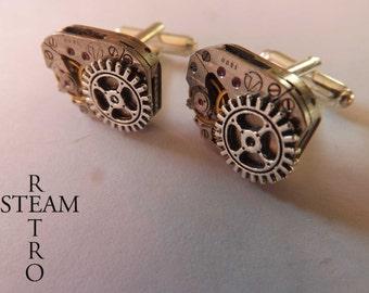 Steampunk gear cufflinks - steampunk accessories -  mens steampunk - wedding cufflinks - Christmas gift - gift for men