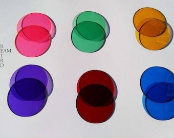 Goggle supplies: colour lenses for Steampunk goggles - filter lenses - steampunk goggle lenses - goggle filters - coloured lenses - lenses