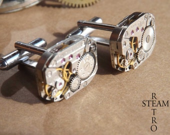 Mens Russian Steampunk Cufflinks - Mens Steampunk - Steampunk Jewelry - Steampunk Accessories - Cufflinks -Christmas gift - steampunk -