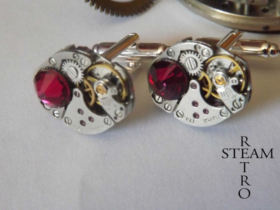 Ruby Wedding Gifts For Men: Items Similar To Mens Gift Boxed Ruby Cufflinks