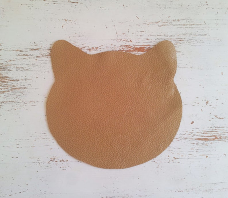 Leather cat mouse pad, Minimal Mouse Pad