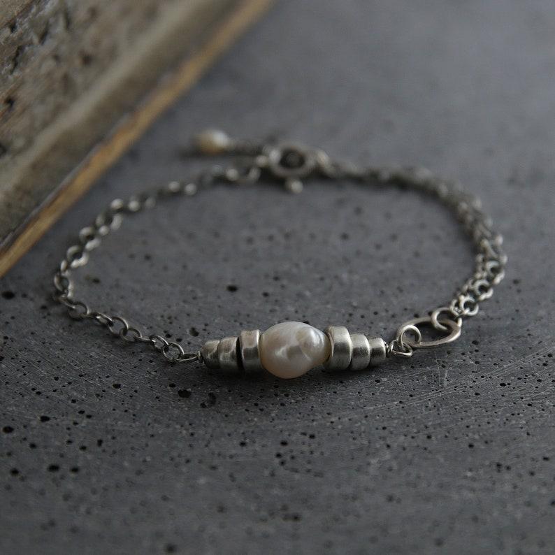 Single pearl bracelet pearl everyday bracelet pearl image 0