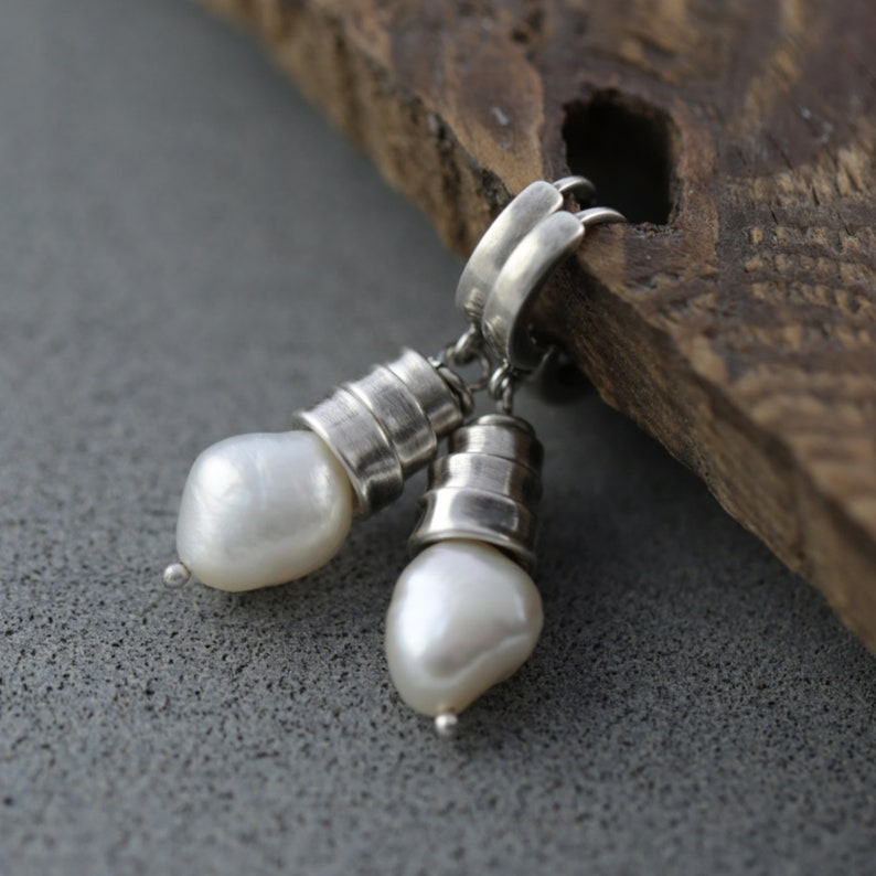 Mothers day from daughter mothers day gift pearl earrings image 0