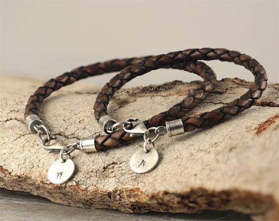 Matching Couple Bracelets Personalized Bracelets Hand Etsy