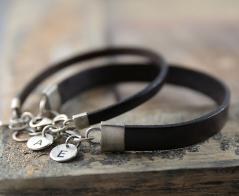 Matching couple bracelets his and her bracelet engagement image 0