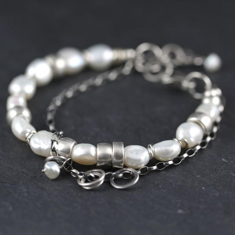 Pearl bracelet wedding jewelry bridesmaid jewelry pearl image 0