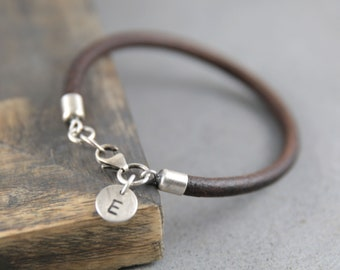 One year anniversary gifts for boyfriend, personalized leather bracelet for men, best friend bracelet, valentines day gift for him