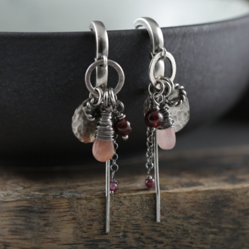 Modern womens gift. Romantic earrings. Fashion lover gift. image 0