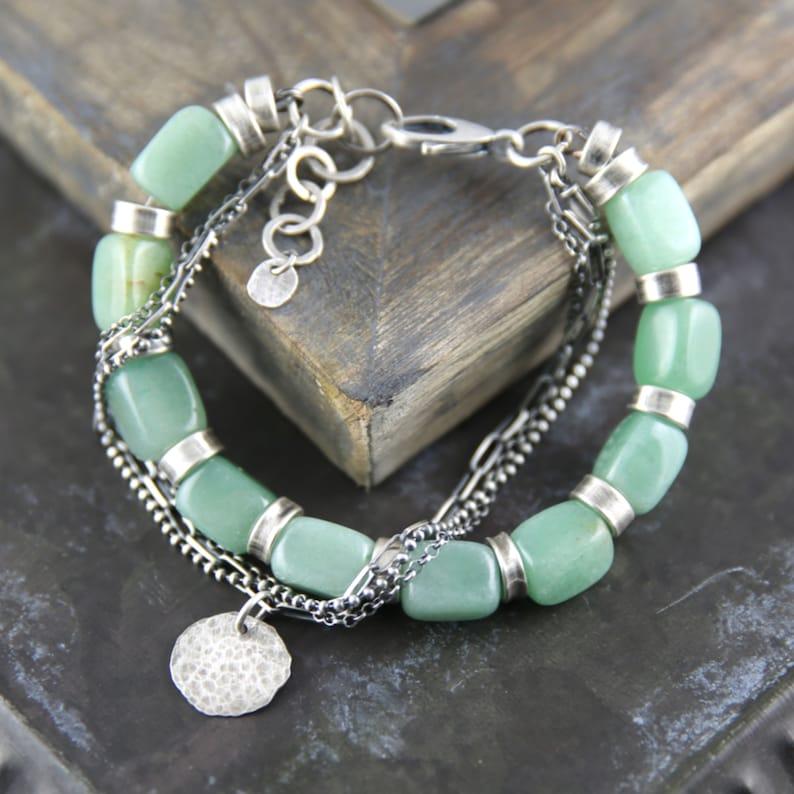 Aventurine Bracelet.Beaded bracelet.Gift for her.Gemstone image 0