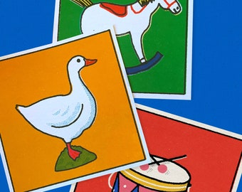 ALL TOTGETHER! Retro toys collection midcentury style prints