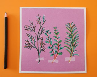 Aromatics -  retro style illustration print perfect to hang on the kitchen wall