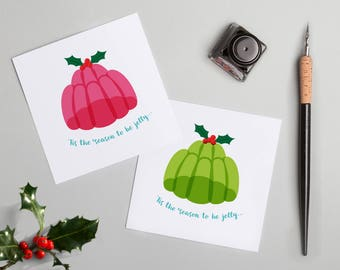 Jelly Christmas card