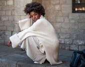 Sweaters, Women's sweaters, Merino wool Sweater, Oversized Sweater, Minimalist Sweater, Loose Fit Sweater, Sand Sweater, High neck sweater