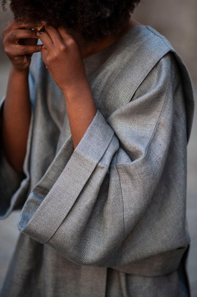 Linen kimono top one size blouse linen kimono linen oversized blouse linen kimono blouse oversized blouse linen blouse atuko