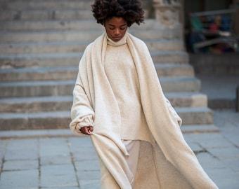 oversized sweater, loose cardigan, shawl sweater cardigan, oversized cardigan, minimalist cardigan, oversized knitting, minimalist clothing,