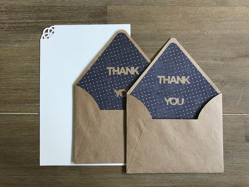 Appreciation gift Thank you envelopes Long distance relationship Mother in law gift Letter writing set Blue dots rustic envelopes
