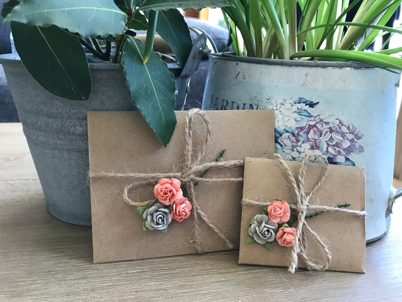 ADD FLOWERS To Envelope Or Gift Romantic Wrapping Idea