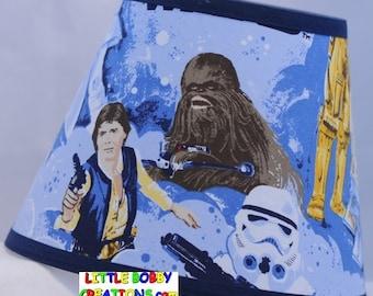 Star Wars Pottery Barn Kids R2d2 C3po Fabric Lamp Shade 10