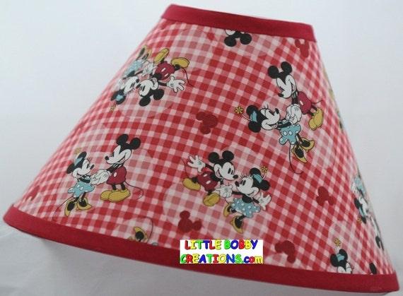 Disney Mickey Maus Minnie Mouse Stoff Lampe Schattieren 10 | Etsy
