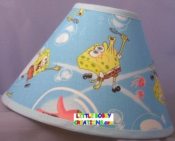 Sponge bob spongebob fabric lamp shade 10 sizes to choose aloadofball Choice Image