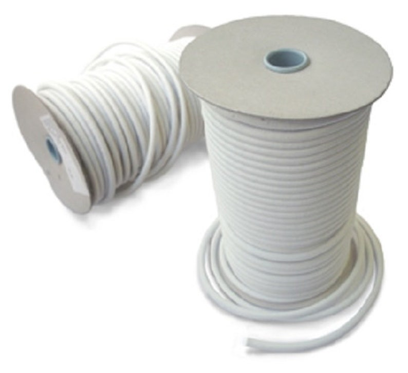 4 mm WHITE Elastic Bungee Rope Shock Cord Tie DownCraft Macrame Jewelry Variuos Lengths