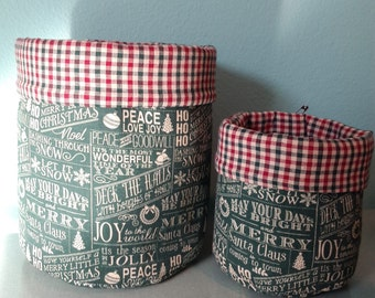 Christmas cloth containers