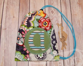 """FLOAT's Athletic Collection..Artsy Flower Child """"Personalized Gymnastics Grip Bag"""", Sage, Turquoise, #gymnastics, #personalized, #gripbag"""