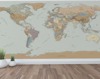 Giant wall map   Etsy on zodiac star map, gobi desert map, giant usa map, giant world map, size accurate world map, north china plain map, giant africa map,
