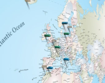 Travel Map Etsy - Create my travel map