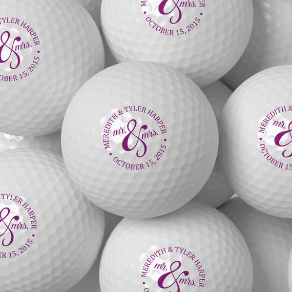 Custom Golf Ball Wedding Favor Personalized Golf Balls Bulk Etsy