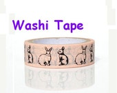 kawaii Rabbit Washi tape Bunny Masking Tape animal deco tape trimer border adhesive removable decoration cute bunny sticker 2014 best buy