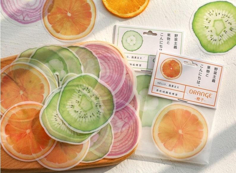 2D Onion Orange Kiwi memo paper Cute Fruit vegetable memo note fruit party paper memo paper embellishments mixed media Paper Note decor