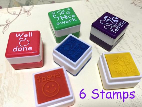 Teacher Stamp Teaching Stamper Self Inking Set English
