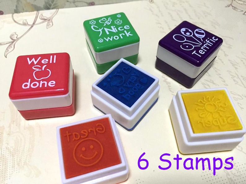 Teacher Stamp Teaching Stamper Self Inking Set English