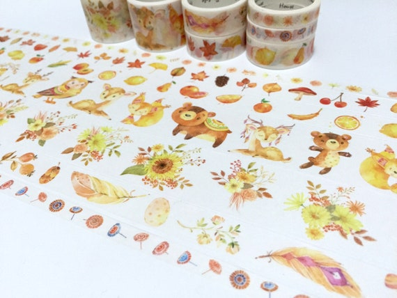 Fall autumn washi tape forest stickers
