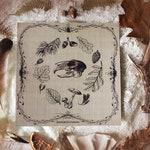Equinox ritual . art print 21X21cm botanical drawings illustration  witchcraft magic pagan cabinet of curiosities autumn leaves .