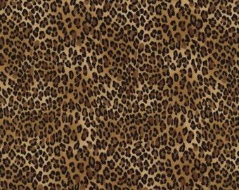 Leopardenstoff Stoff Leopard Tierfell braun schwarz Deko leopard wild Timeless Treasures 0,5 m USA Designerstoff reine Baumwolle