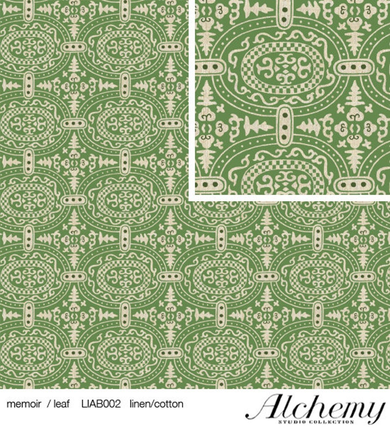 Linen Amy Butler Alchemy Memior miner Fabric leaf 0.5 m clothing fabric Blazerstoff firmer fabric for outerwear furnishing fabric