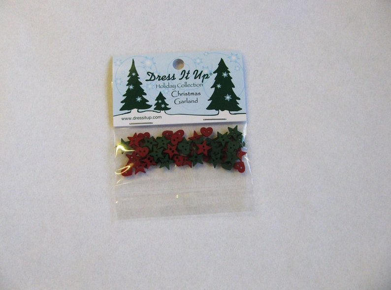 Dress it up buttons 1 pack Christmas Garland Christmas image 0