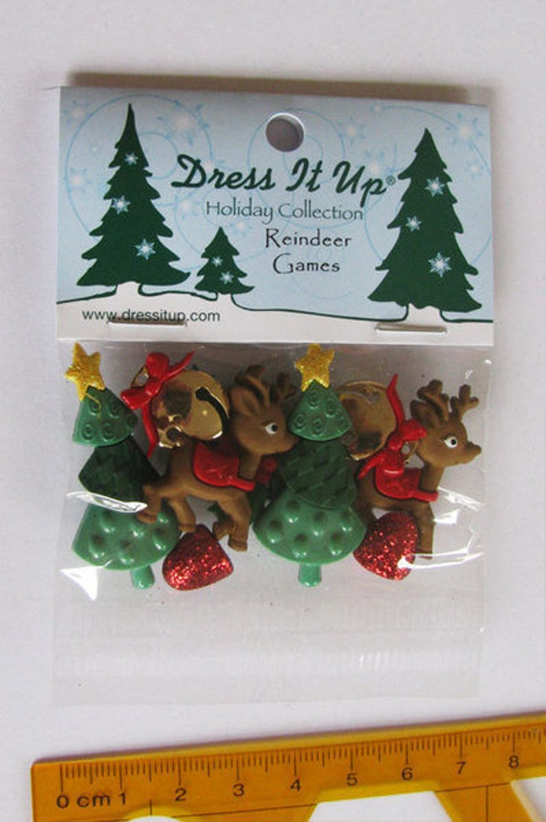 Dress it up buttons 1 pack buttons Reindeer Games image 0