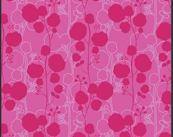 Poetica Sonnet Ruby Art Gallery 0,5 m stoff reine Baumwolle Pat Bravo Blumen Muster pink Deko rosa