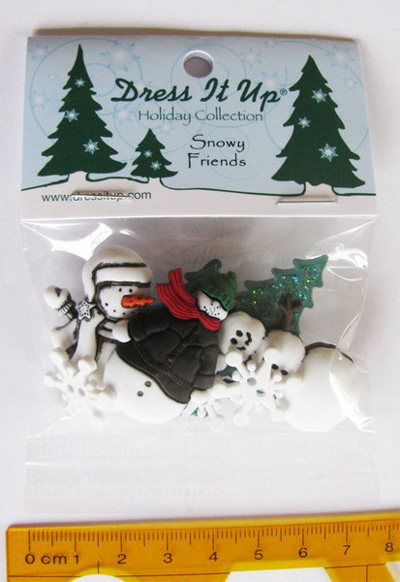 Dress it up buttons 1 pack buttons snowy friends decocardial image 0