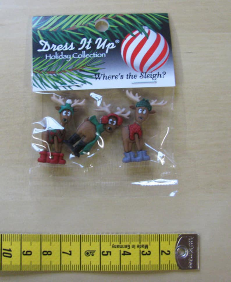 Dress it up buttons 1 pack buttons where's the sleigh image 0