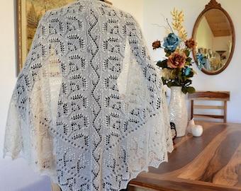 Knitting Lace Shawl Pattern ~ Wedding Bliss