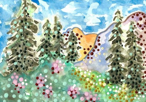Rocky Mountains Utah 6x8 Original Art Wasatch Range Etsy